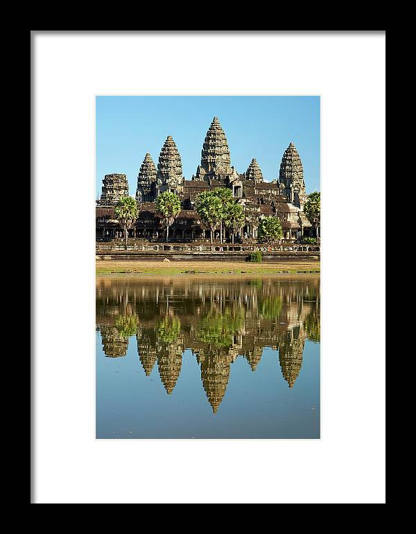 12th Century Framed Print featuring the photograph Angkor Wat Temple Complex (12th Century by David Wall
