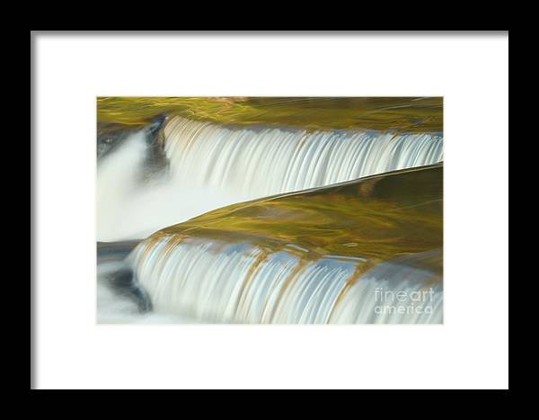 Bond Falls Framed Print featuring the photograph Angled Water by Todd Bielby