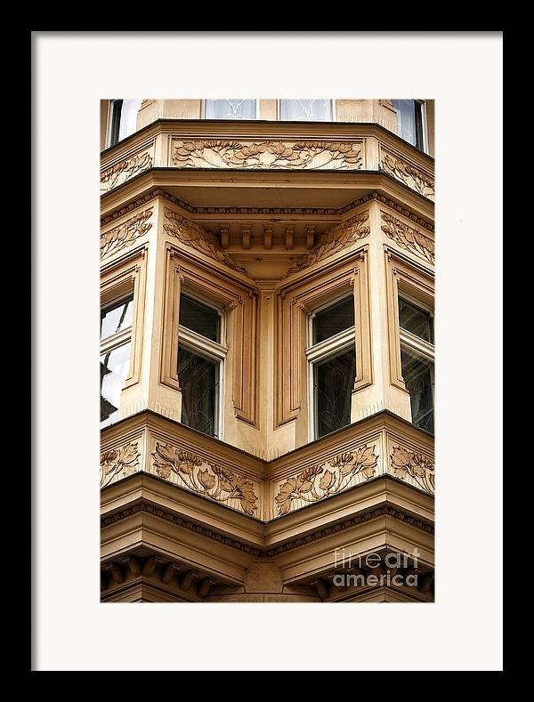 Angled Windows Framed Print featuring the photograph Angled Windows by John Rizzuto