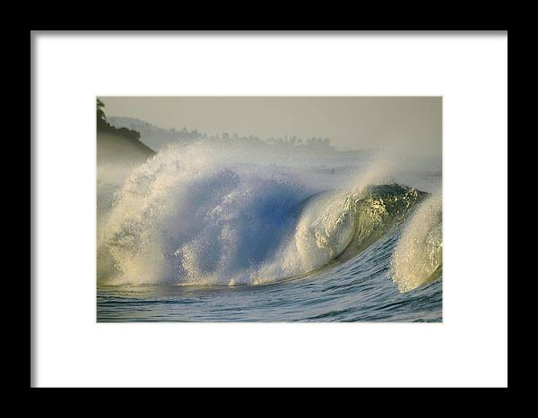 Surf Framed Print featuring the photograph Angry Sea by Lori Seaman