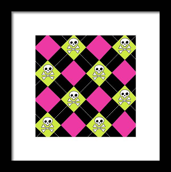 Juvenile Framed Print featuring the painting Angst Magenta Iv by Nd Art & Design