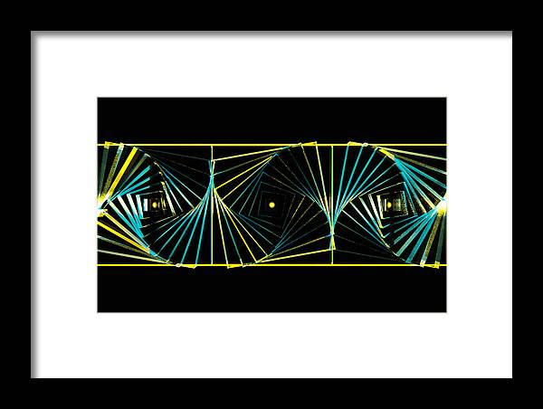 Angle Waves Sea Ocean Space Universe Galaxy 3d Framed Print featuring the digital art Angular Waves by Mario Ozimy