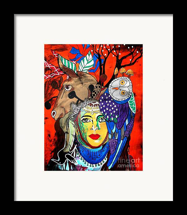 Fruit Basket Framed Print featuring the painting Animal Basket by Amy Sorrell