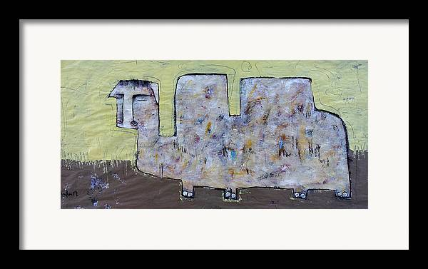 Abstract Framed Print featuring the painting Animalia Camelus 2 by Mark M Mellon