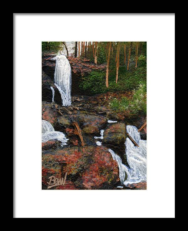 Acrylic Framed Print featuring the painting Anna Ruby Falls by Bill Brown