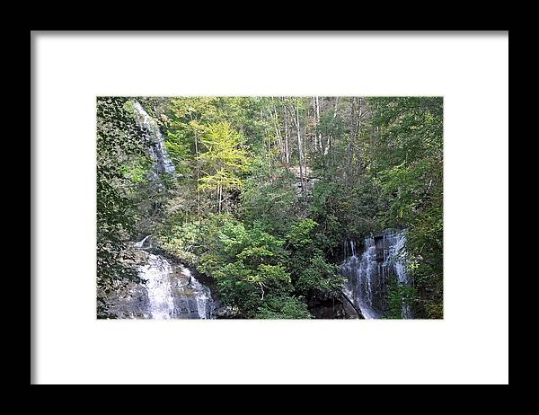 Anna Ruby Framed Print featuring the photograph Anna Ruby Falls by Herbert Gatewood