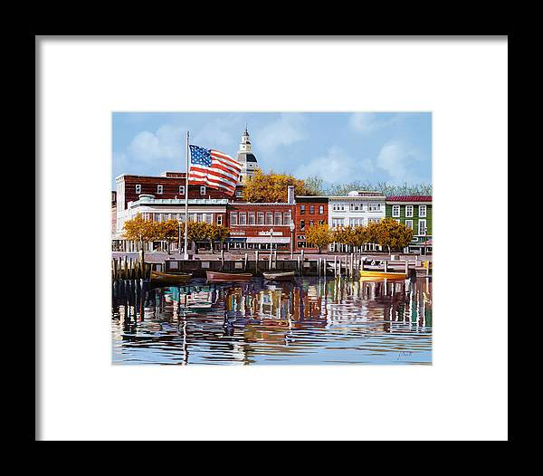 Annapolis Framed Print featuring the painting Annapolis by Guido Borelli