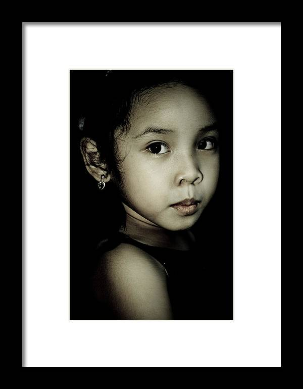 Girl Framed Print featuring the photograph Anne by Marijoy Leynes