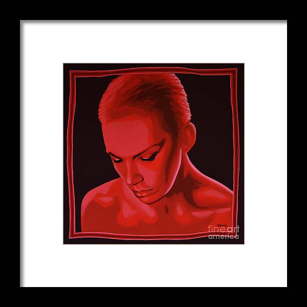 Annie Lennox Framed Print featuring the painting Annie Lennox by Paul Meijering