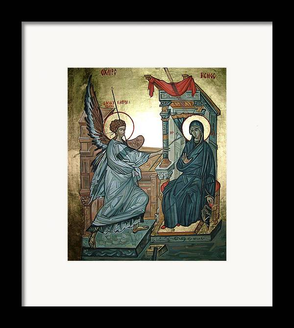 Icons Framed Print featuring the painting Annunciation by Filip Mihail