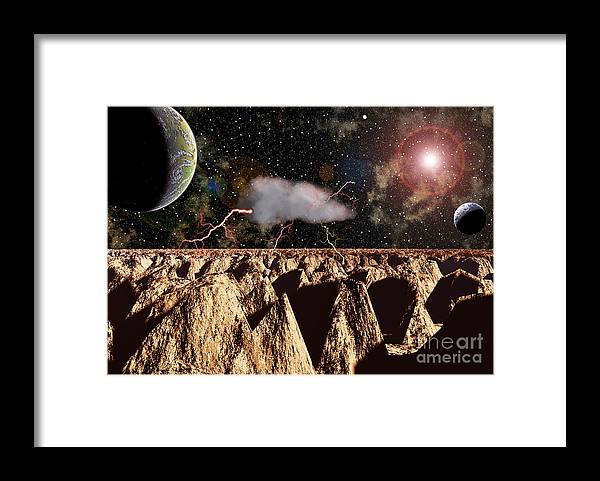 Didital Art Framed Print featuring the photograph Another World by Alan Russo