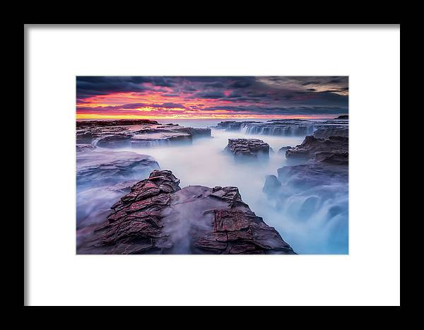 Kiama Framed Print featuring the photograph Another World by Joshua Zhang