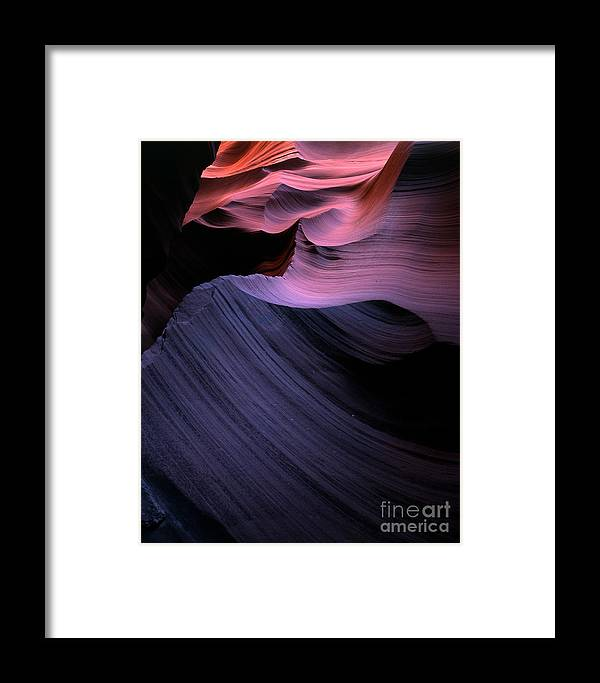 Abstract Framed Print featuring the photograph Antelope Canyon II by Mark Sunderland