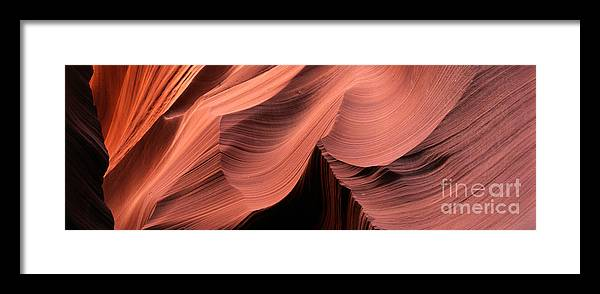 Abstract Framed Print featuring the photograph Antelope Canyon IIi by Mark Sunderland