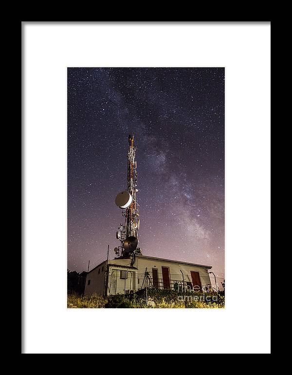 Framed Print featuring the photograph Antenna by Eugenio Moya