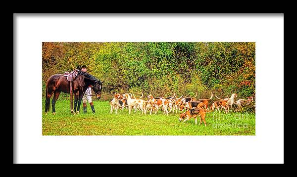Foxhunt Framed Print featuring the photograph Anticipation by Ola Allen