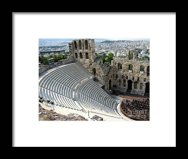 Athens Framed Print featuring the photograph Antique Athens by Sophie Vigneault