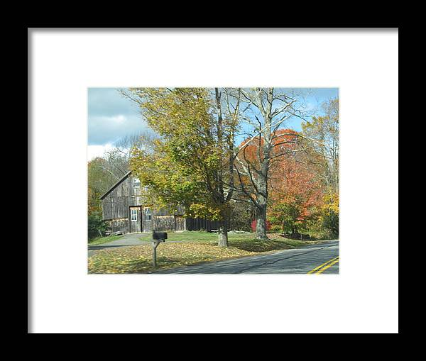 Landscape Framed Print featuring the photograph Antique Colors by Loretta Pokorny
