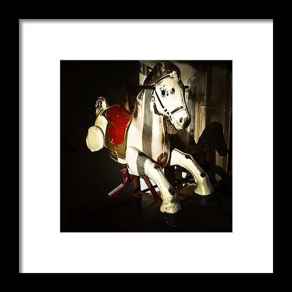 Antiques Framed Print featuring the photograph Antique Horse C by Patrick M Lynch