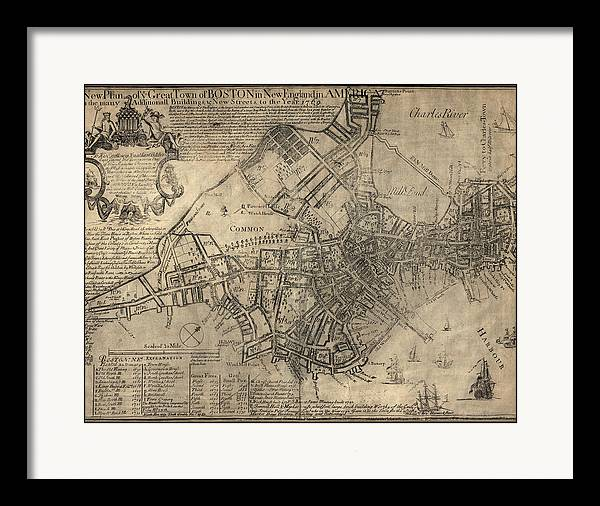 Antique Map of Boston by William Price - 1769 by Blue Monocle
