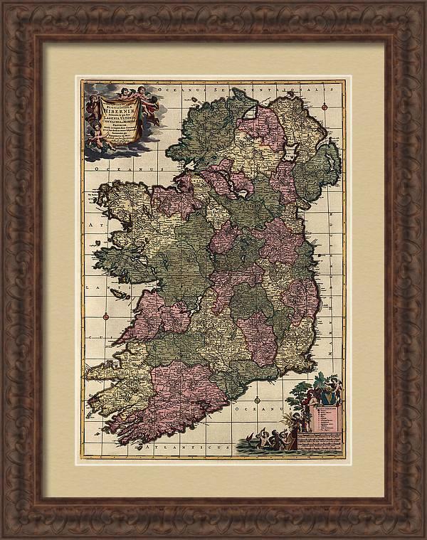 Antique Map of Ireland by Frederik de Wit - circa 1700 by Blue Monocle