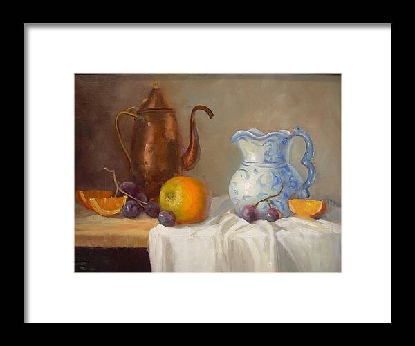 Framed Print featuring the painting Antique Pitcher by Naomi Dixon