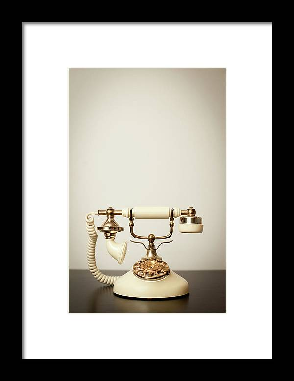 Desaturated Framed Print featuring the photograph Antique Victorian-style Rotary by Ideabug