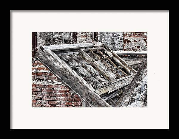 Abandoned Framed Print featuring the photograph Antique Wood Window by Olivier Le Queinec