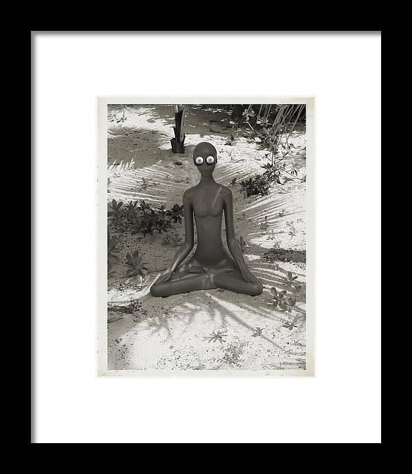 Framed Print featuring the digital art Anxious by John Holfinger