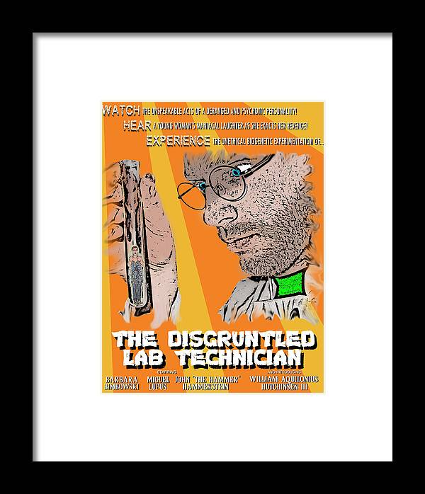 Science Fiction Framed Print featuring the digital art Anyone Can Be A Mad Scientist Even You by Michael Wolfe