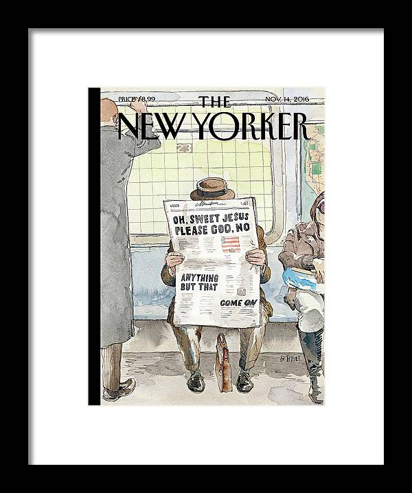 Trump Framed Print featuring the painting Anything But That by Barry Blitt