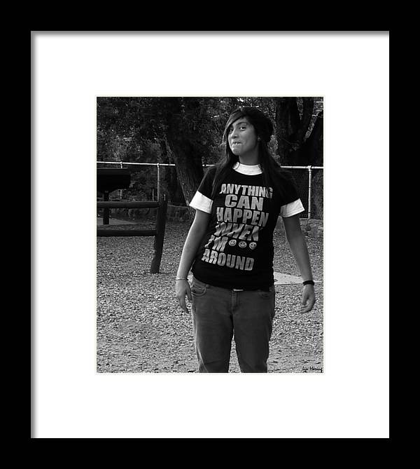 Possibility Framed Print featuring the photograph Anything Can Happen by Lin Haring