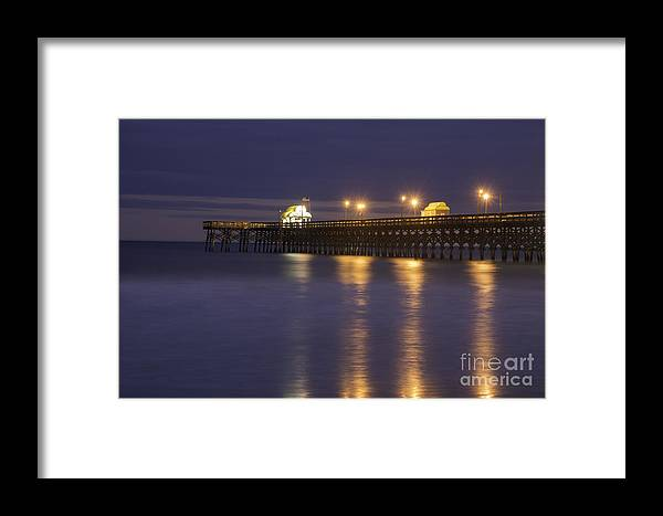 Ajax Pier Myrtle Beach Sc Framed Print featuring the photograph Apache Pier by David Waldrop