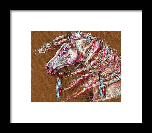 Horse Framed Print featuring the painting Apachee Spirit by Amanda Hukill