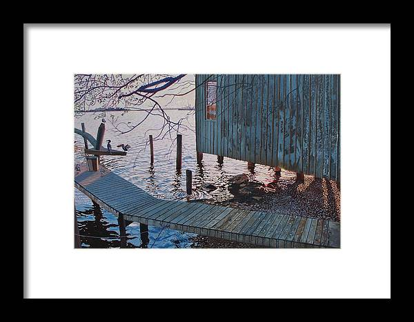Florida Framed Print featuring the painting Apalachacola Fish House by Alan Mintz