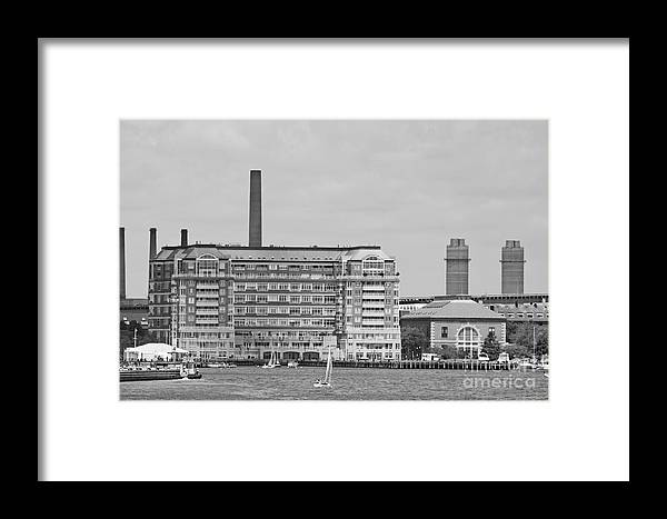 Building Framed Print featuring the photograph Apartment Building by Ruth H Curtis