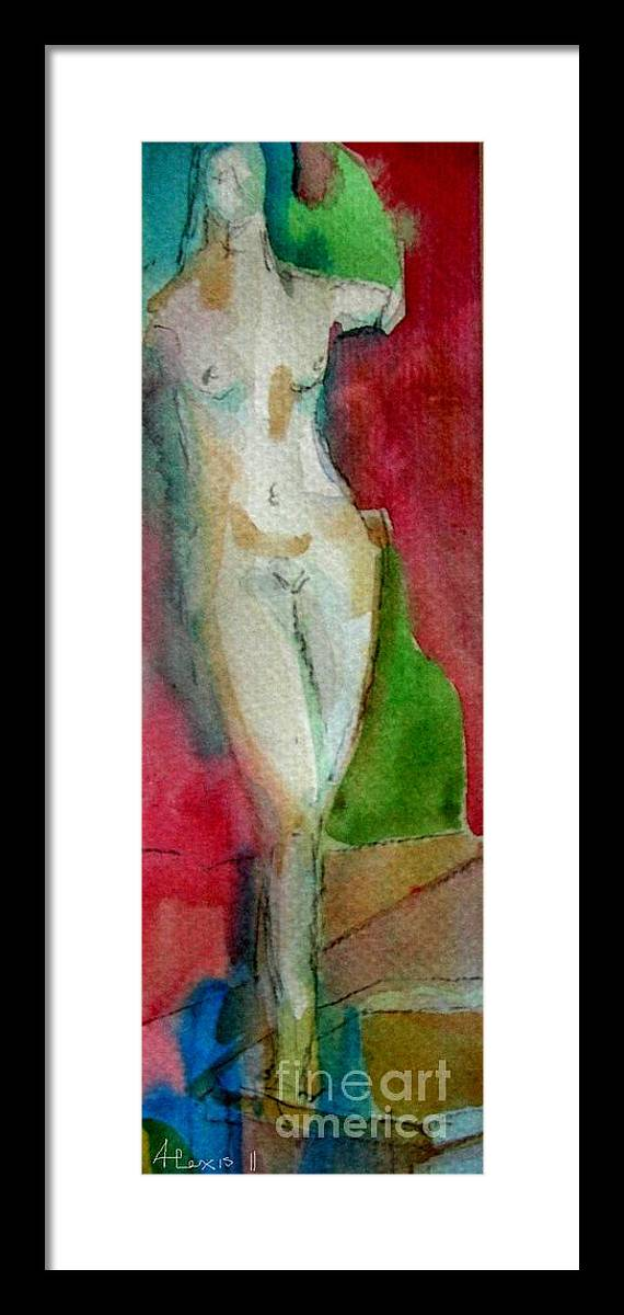 Water Color Framed Print featuring the painting Aphrodite by Alexis