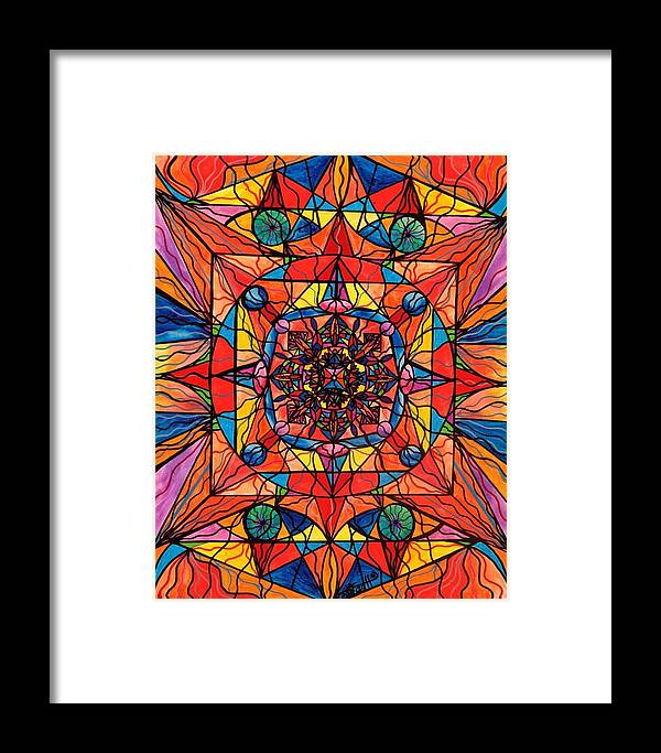 Aplomb Framed Print featuring the painting Aplomb by Teal Eye Print Store