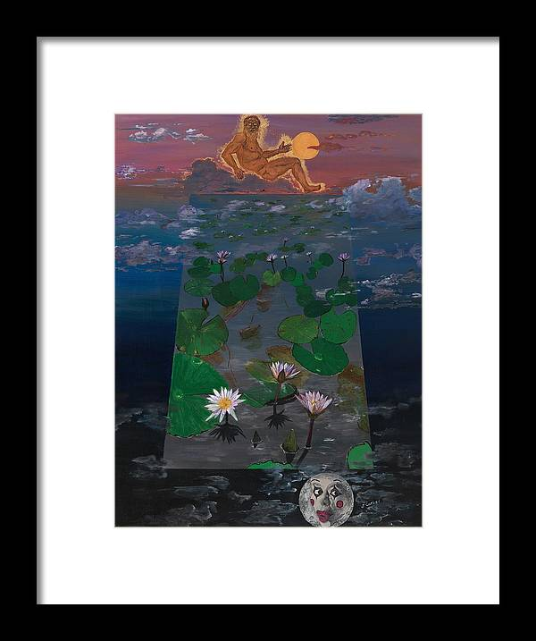 Surrealism Framed Print featuring the painting Apollo's Realm by Joseph Carlisi