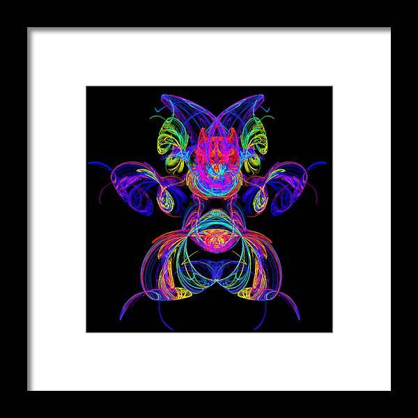 Puppy Framed Print featuring the digital art Apophysis Puppy by Pat Follett