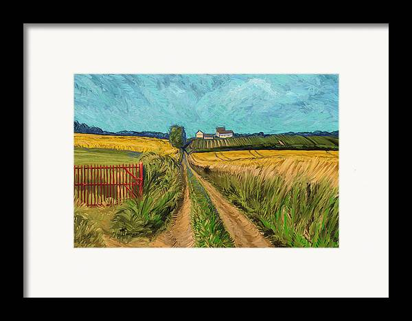 Apostelhoeve Wine Estate Wijngoed Maastricht Briex Landscape Fine Art Impressionism Framed Print featuring the painting Apostelhoeve Wine Estate Maastricht by Nop Briex