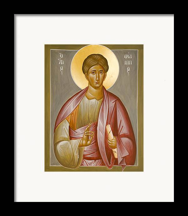 Apostle Philip Framed Print featuring the painting Apostle Philip by Julia Bridget Hayes