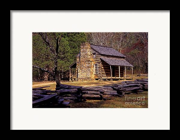 Log Cabin Framed Print featuring the photograph Appalachian Homestead by Paul W Faust - Impressions of Light