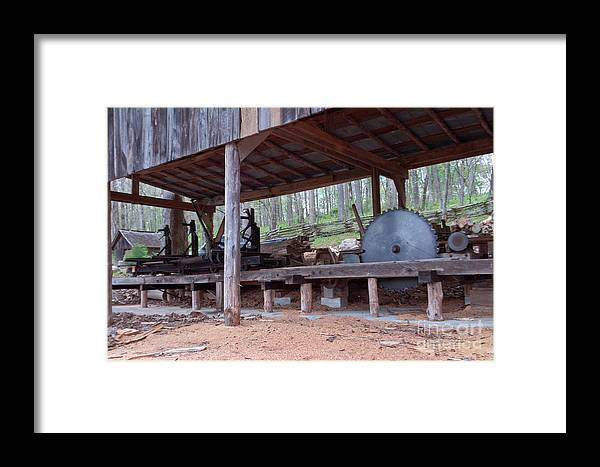 Photography Framed Print featuring the photograph Appalachian Saw Mill by Terry Cotton