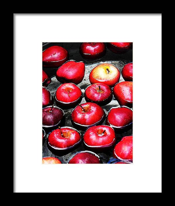 Apples Framed Print featuring the photograph Apple A Day by Courtney Hogg