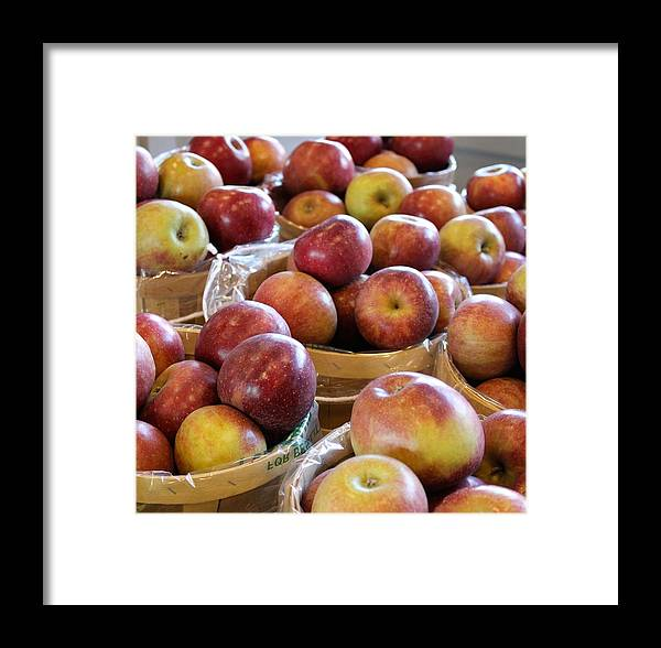 Apple Framed Print featuring the photograph Apple Baskets by Dana Bucy Miller