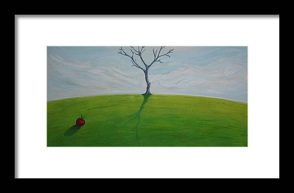 Tree Framed Print featuring the painting Apple Dreams 2010 by Thomas Griffith