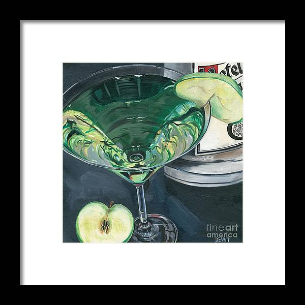 Apple Framed Print featuring the painting Apple Martini by Debbie DeWitt