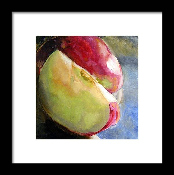 Apple Framed Print featuring the painting Apple Slices by John Norman Williams