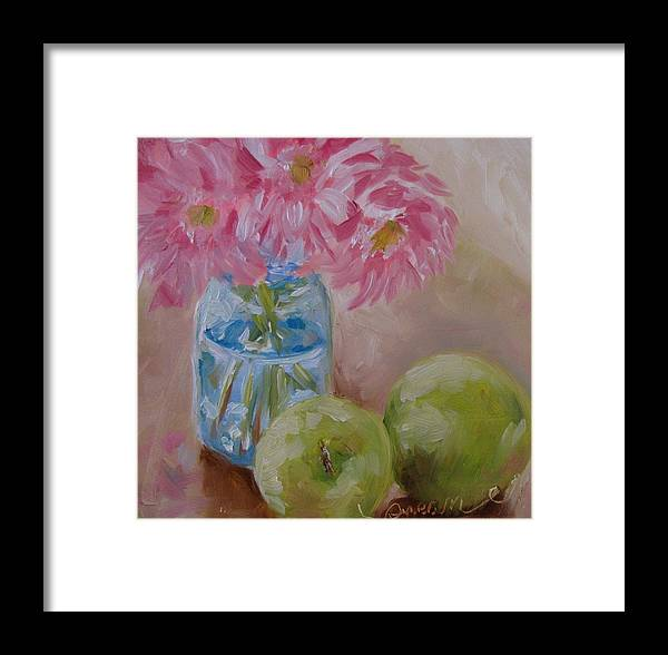 Apple Framed Print featuring the painting Apple Still Life by Susan Elizabeth Jones